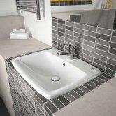 Twyford E100 Square Countertop Basin 550mm Wide 1 Centre Tap Hole