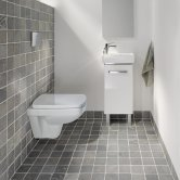 Twyford E200 Square Rimless Wall Hung Toilet 350mm Wide - Excluding Seat