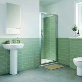 Twyford Geo Pivot Shower Door 760mm Wide - 6mm Glass