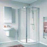 Twyford Geo Quadrant Shower Enclosure 800mm x 800mm - 6mm Glass