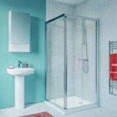 Twyford Geo Corner Entry Shower Enclosure 800mm x 800mm - 6mm Glass