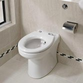 Twyford Sola Rimless Back-To-Wall Toilet Pan 360mm W - Excluding Seat