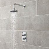 Premier Beaumont Traditional Concealed Shower Mixer with Fixed Head - Chrome
