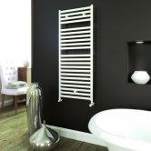 Ultraheat Banio Straight Heated Towel Rail 700mm H x 425mm W - White