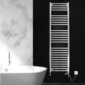 Ultraheat Chelmsford Straight Heated Towel Rail 1172mm H x 600mm W - Chrome