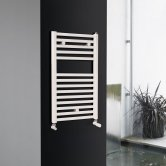 Ultraheat Chelmsford Straight Heated Towel Rail 764mm H x 500mm W - White