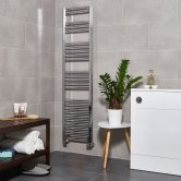 Ultraheat Eco-Rail Straight Heated Towel Rail 1585mm H x 400mm W - Chrome