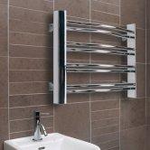 Ultraheat Petit Curved Heated Towel Rail 420mm H x 600mm W - Chrome