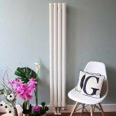 Ultraheat Sofi Single Designer Vertical Radiator, 1500mm H x 239mm W, White