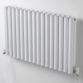 Ultraheat Sofi Double Designer Horizontal Radiator, 600mm H x 475mm W, White