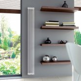 Ultraheat Tilbrook Single Designer Vertical Radiator, 2000mm H x 456mm W, White