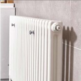 Ultraheat Tubular 2 Column Radiator 600mm H x 376mm W 8 Sections - White