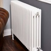 Ultraheat Tubular 4 Column Radiator 600mm H x 421mm W 9 Sections - White