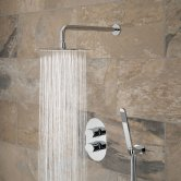 Vado DX Life Thermostatic Dual Concealed Mixer Shower with Shower Kit + Fixed Head