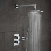 Vado DX Mix2 Thermostatic Dual Concealed Mixer Shower with Shower Kit + Fixed Head