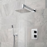 Vado DX Phase Thermostatic Dual Concealed Mixer Shower with Shower Kit + Fixed Head