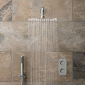Vado Tablet Altitude Thermostatic Dual Concealed Mixer Shower with Shower Kit + Fixed Head