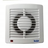 Vectaire AS10 Plus Fan Extractor with Overrun Timer 160mm H x 160mm W x 95mm D - White