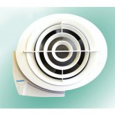 Vectaire E-Smile Fan Extractor with Pull Cord or Remote Switch 149mm H x 168mm W x 102mm D - White