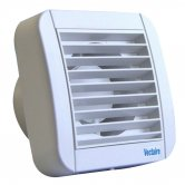 Vectaire Eco Fan Extractor with Pull Cord or Remote Switch 155mm H x 155mm W x 92mm D - White