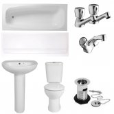 Verona Access Complete Bathroom Suite Package (1 Tap Hole Basin)