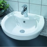 Verona Advantage Semi-Recessed Basin 500mm Wide 1 Tap Hole
