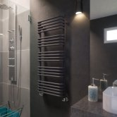 Verona Alex Designer Heated Towel Rail 1140mm H x 500mm W - Modern Grey