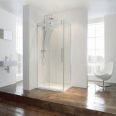 Verona Aquaglass+ Frameless Sliding Shower Door 1700mm Wide - 8mm Glass
