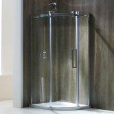 Verona Aquaglass+ Frameless Offset Quadrant 1 Door Shower Enclosure 1000mm x 800mm - Right Handed