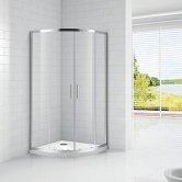 Verona Aquaglass Intro Quadrant Shower Enclosure 1000mm x 1000mm - 8mm Clear Glass