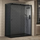 Verona Aquaglass+ Sphere Tinted Sliding Shower Door 1700mm Wide - 8mm Glass