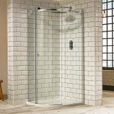 Verona Aquaglass+ Sphere Offset Quadrant 1 Door Shower Enclosure 1000mm x 800mm - Left Handed
