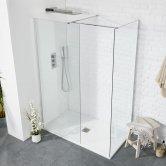 Verona Aquaglass+ Walk-in Shower Panel 950mm Wide - 8mm Glass