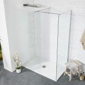 Verona Aquaglass+ Walk-In Side Panel 900mm Wide - 8mm Glass