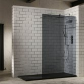 Verona Aquaglass+ Walk-In Shower Panel 1000mm Wide - 10mm Tinted Glass