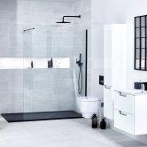 Verona Aquaglass+ Walk-In Shower Panel 800mm Wide - 10mm Clear Glass