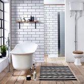 Verona Belmont Freestanding Slipper Bath with Chrome Ball Feet 1700mm x 710mm - White