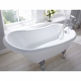 Verona Freestanding Slipper Bath with Ball and Claw Feet 1500mm x 750mm