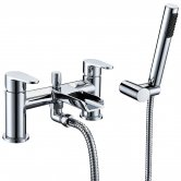Verona Cascade Waterfall Bath Shower Mixer Tap Pillar Mounted Chrome