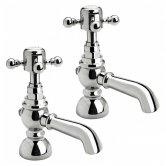 Verona Edwardian Bath Taps Pair - Chrome