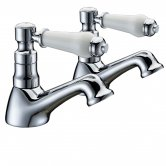 Verona Holborn Single Lever Basin Taps Pair - Chrome