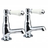 Verona Holborn Single Lever Bath Taps Pair - Chrome