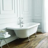 Verona Kildwick Freestanding Back to Wall Roll Top Bath 1700mm x 750mm - Excluding Feet
