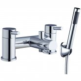Verona Outline Bath Shower Mixer Tap Pillar Mounted Chrome