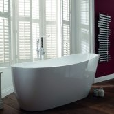 Verona Pano Freestanding Slipper Bath 1795mm x 800mm - White