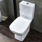 Verona Piccolo Close Coupled Toilet with Push Button Cistern - Soft Close Seat