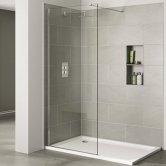 Verona Prestige2 Walk-in Shower Panel 800mm Wide - 10mm Clear Glass