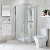 Verona Promenade Complete Bathroom Suite Package (800mm Quadrant Enclosure)