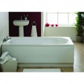 Verona Recline Single Ended Rectangular Bath 1700mm x 700mm Re-Inforced Acrylic