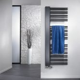 Verona Softcube Plus Heated Towel Rail 1610mm H x 610mm W - Anthracite Right Handed